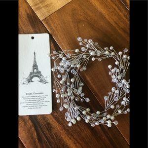 New bridal hair accessory, pearl Swarovski crystal